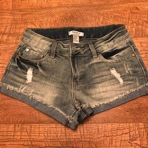 Forever 21 Destroyed Denim Shorts